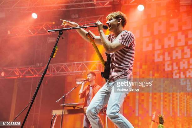 Dave Bayley of Glass Animals performs during day 1 of NOS Alive on July 6 2017 in Lisbon Portugal