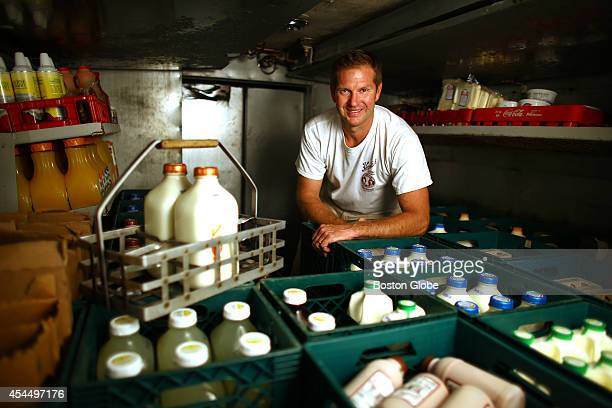 Dave Beaulieu is a milkman and delivery route supervisor for Hornstra Farms Beaulieu in his refrigerated truck on Thursday August 21 that is loaded...