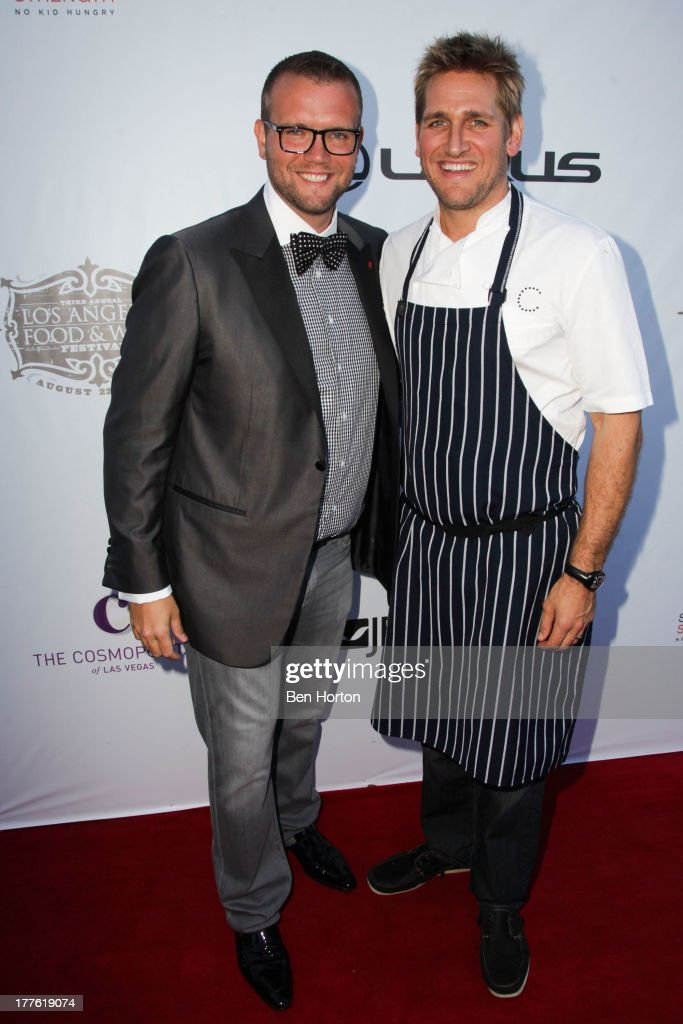 Dave Bernahl and chef Curtis Stone attend LEXUS Live on Grand hosted by Curtis Stone at the third annual Los Angeles Food & Wine Festival on August 24, 2013 in Los Angeles, California.