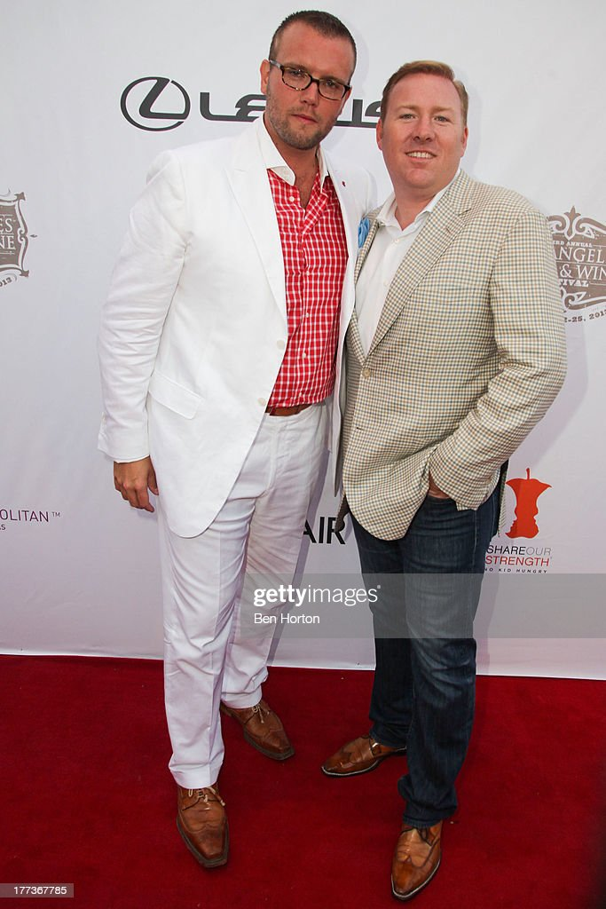Dave Bernahl and Robert Weakley attend the Festa Italiana with Giada de Laurentiis opening night celebration of the third annual Los Angeles Food & Wine Festival on August 22, 2013 in Los Angeles, California.