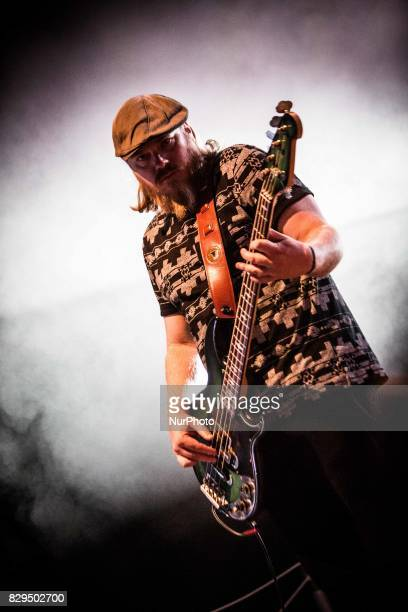 Dave Beste of the american blues rock band Rival Sons performing live at Carroponte Milan Italy