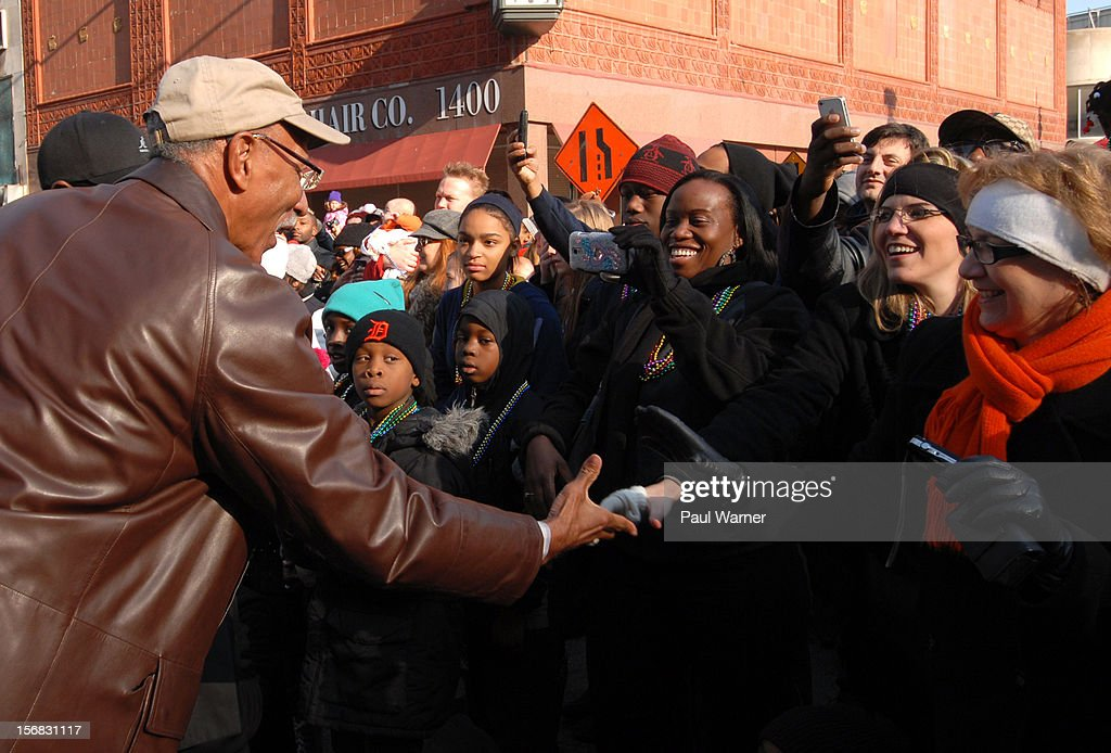 Dave Bing, Mayor of Detroit, attends America's Thanksgiving Day Parade at Woodward Avenue on November 22, 2012 in Detroit, Michigan.
