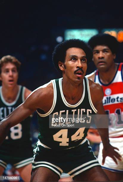 Dave Bing of the Boston Celtics in action against the Washington Bullets during an NBA basketball game circa 1977 at the Capital Centre in Landover...