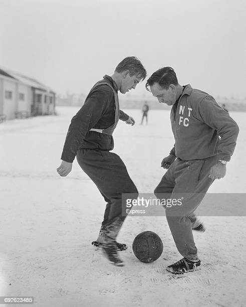 Dave Bowen manager of Northampton Town FC training with Graham Moore UK 21st September 1966