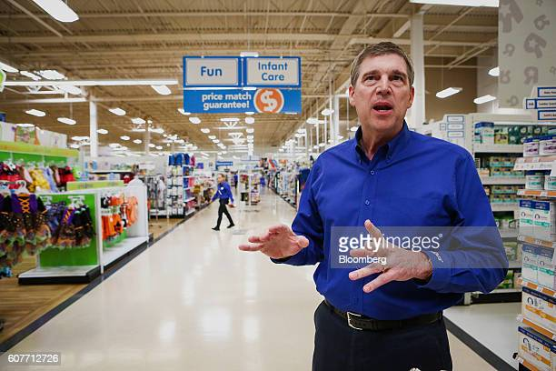 Dave Brandon chief executive officer of Toys R Us Inc speaks during an interview at a Toys R Us Inc store in Secaucus New Jersey US on Friday Aug 19...