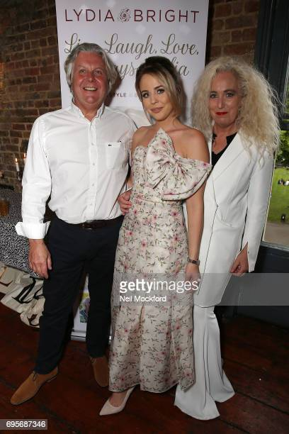 Dave Bright and Debbie Douglas join Lydia Rose Bright as she celebrates the release of her new book' Live Laugh Love Always Lydia' at The Dead Dolls...