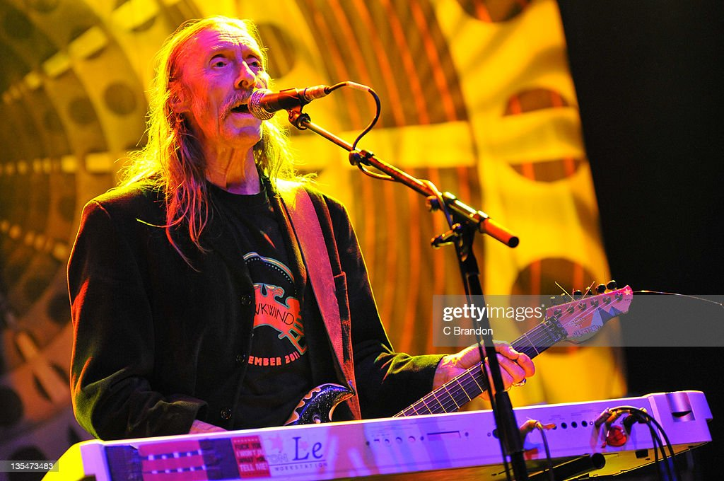 <a gi-track='captionPersonalityLinkClicked' href=/galleries/search?phrase=Dave+Brock+-+Musician+-+Hawkwind&family=editorial&specificpeople=15100945 ng-click='$event.stopPropagation()'>Dave Brock</a> of Hawkwind performs on stage at Shepherds Bush Empire on December 10, 2011 in London, England.