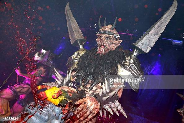 Dave Brockie aka Oderus Urungus of GWAR performs at Emo's during the Housecore Horror Film Festival on October 26 2013 in Austin Texas