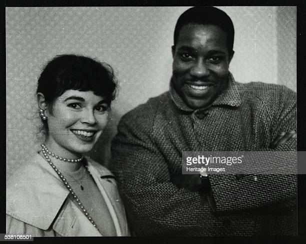 Dave Brubeck Quartet bassist Eugene Wright Colston Hall Bristol 1958 Alongside Wright is Jean Brace who became the photographer's wife the same year...