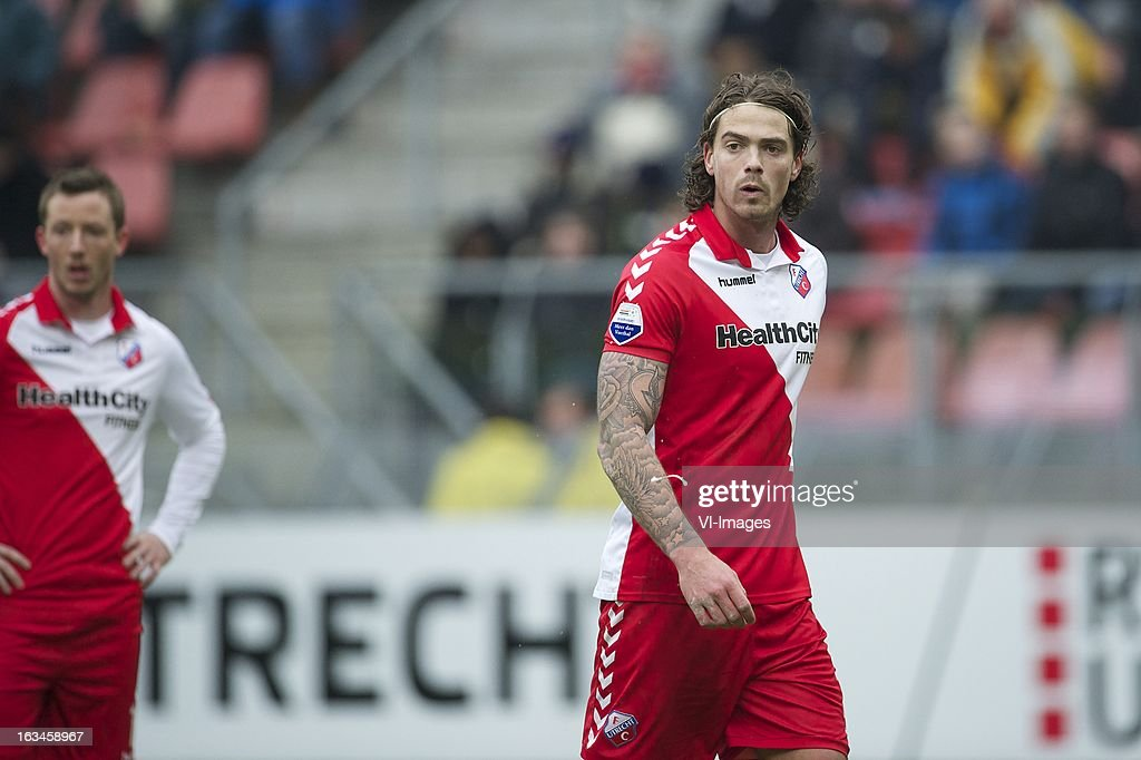 Dave Bulthuis of FC Utrecht during the Dutch Eredivisie match between FC Utrecht and RKC Waalwijk at the Galgenwaard on march 10, 2013 in Utrecht, The Netherlands