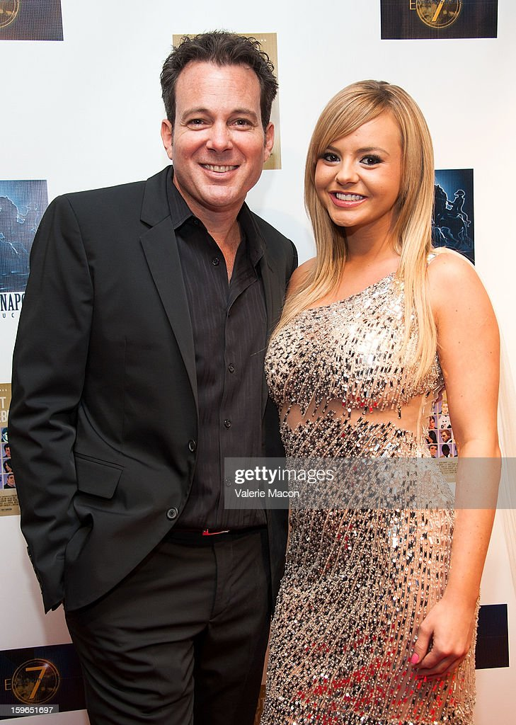 Dave Burleigh and <a gi-track='captionPersonalityLinkClicked' href=/galleries/search?phrase=Bree+Olson&family=editorial&specificpeople=5153154 ng-click='$event.stopPropagation()'>Bree Olson</a> arrive the Screening Of 'Not Another Celebrity Movie' at Pacific Design Center on January 17, 2013 in West Hollywood, California.