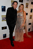 Dave Burleigh and Bree Olson attend the 'Not Another Celebrity Movie' Los Angeles premiere at Pacific Design Center on January 17 2013 in West...