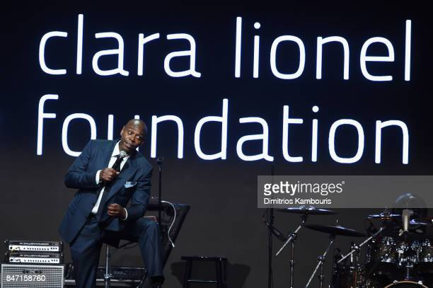 Dave Chapelle speaks onstage at Rihanna's 3rd Annual Diamond Ball Benefitting The Clara Lionel Foundation at Cipriani Wall Street on September 14...