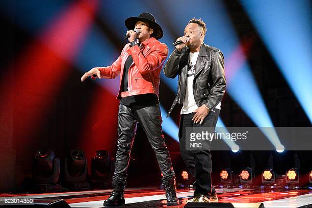 LIVE 'Dave Chappelle' Episode 1710 Pictured QTip and Jarobi White of musical guest A Tribe Called Quest perform on November 12 2016