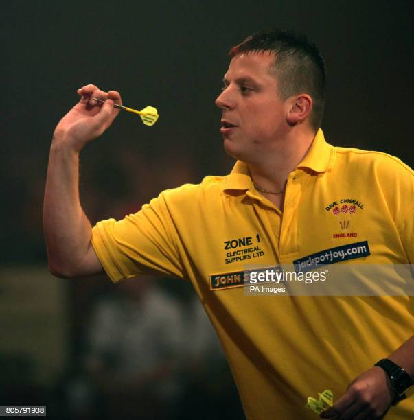 Dave Chisnall in action during the BDO 2010 Lakeside World Championships at Lakeside Country Club Frimley Green