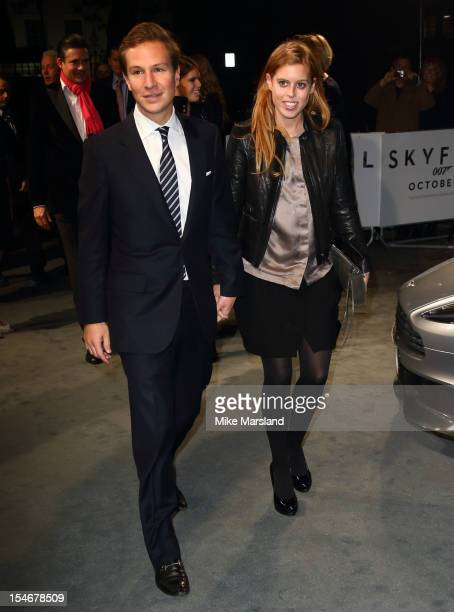 Dave Clark and Princess Beatrice of York attend a VIP screening of 'Skyfall' hosted by Aston Martin at The Curzon Mayfair on October 24 2012 in...