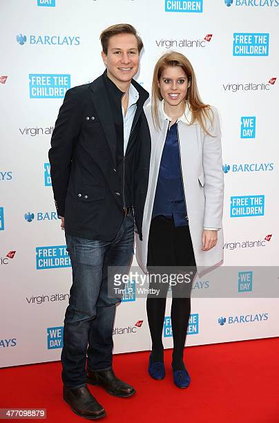 Dave Clark and Princess Beatrice of York attends We Day UK a charity event to bring young people together at Wembley Arena on March 7 2014 in London...