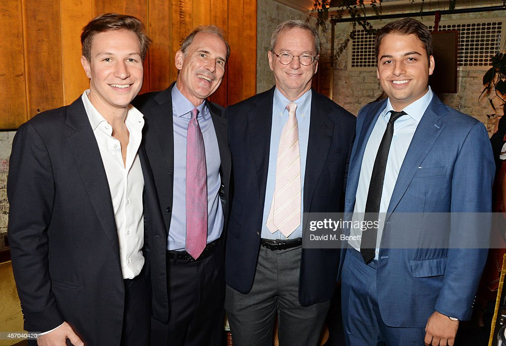 Dave Clark Jonathan Rosenberg Eric Schmidt and Jamie Reuben attend the book launch party for 'How Google Works' by Eric Schmidt and Jonathan...
