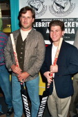 Dave Coulier and Jason Hervey during Homeless 4 Hockey at The Forum in Los Angeles CA United States
