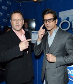 Dave Coulier and John Stamos show the lighter side of the game with Dannon Oikos on January 29 2014 in New York City