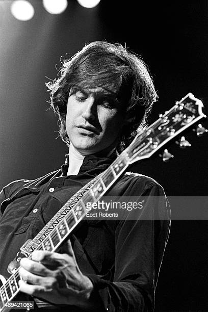 Dave Davies of the Kinks performing at Madison Square Garden in New York NY on October 3 1981