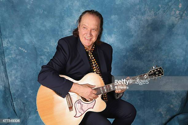 Dave Davies sits for a portrait session at Gibson Guitar Showroom on June 16 2015 in New York City