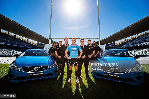 Dave DennisTatafu Polota Nau Micheal Hooper of the Waratahs Matt Braid of Volvo Waratahs CEO Jason Allen Adam AshleyCooper Rob Horne and Israel Folau...
