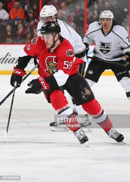 Dave Dziurzynski of the Ottawa Senators skates against the Los Angeles Kings at Canadian Tire Centre on December 14 2015 in Ottawa Ontario Canada