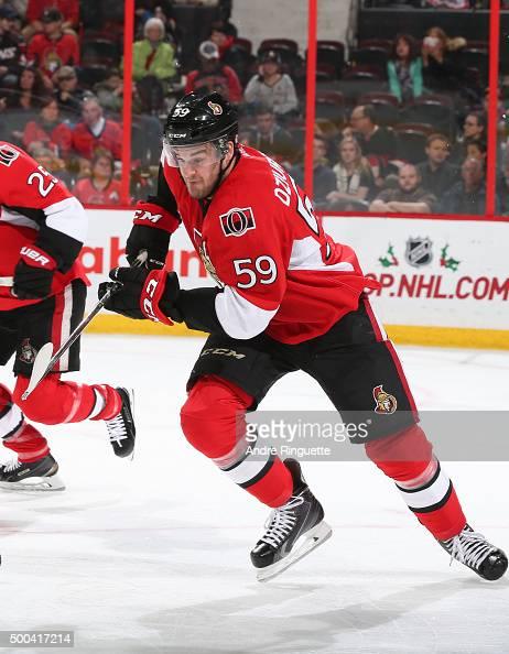 Dave Dziurzynski of the Ottawa Senators skates against the New York Islanders at Canadian Tire Centre on December 5 2015 in Ottawa Ontario Canada