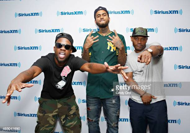 LV Dave East and Sean C visit the SiriusXM Studios on August 1 2014 in New York City