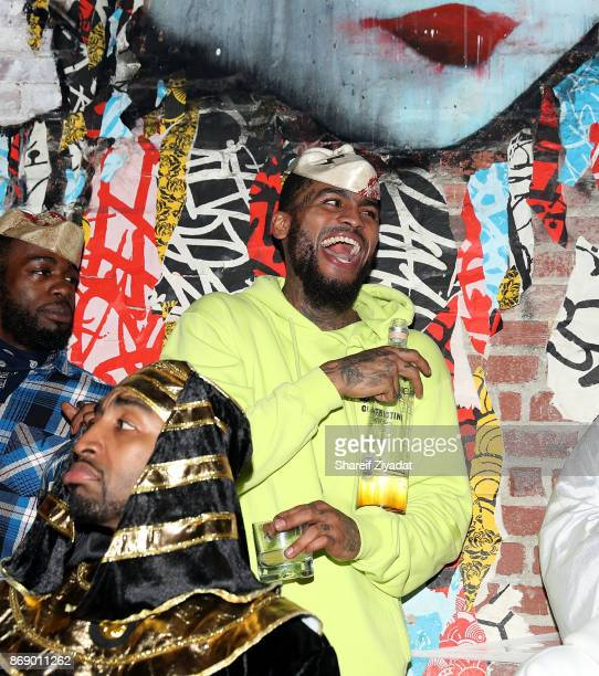 Dave East attends DeLeon Tequila D'usse Mix Up Halloween At Costume Couture With Lenny S LaLa Anthony At TAO Downtown at TAO Downtown on October 31...