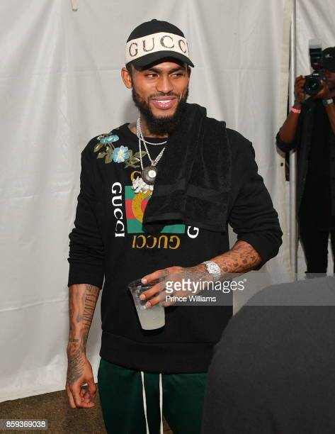 Dave East attends the 2017 A3C Festival at Georgia Freight Depot on October 8 2017 in Atlanta Georgia
