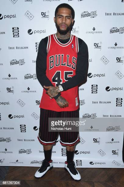 Dave East attends the 2017 Def Jam Upfronts presented by Honda Stage Pepsi Courvoisier and True Religion at Kola House NYC on May 9 2017 in New York...