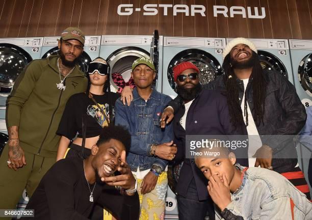 Dave East India Graham Desiigner Pharrell Williams Tariq Luqmaan Trotter Jaden Smith and DRAM attend the Pharrell Williams And GStar RAW Present The...