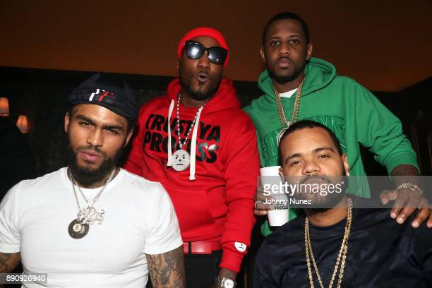 Dave East Jeezy Fabolous and Boo Rossini attend the Jeezy 'Pressure' Album Listening Party at Avenue on December 11 2017 in New York City