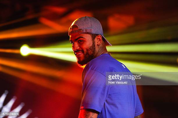 Dave East performs at Hennessy VS Limited Edition by Scott Campbell Bottle Launch event at MAMA Gallery on July 14 2016 in Los Angeles California