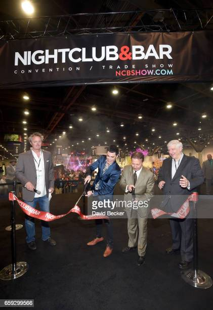 Dave Elger Tom Sandoval and Chairman of the NBC Show Advisory Board Thom Greco and CEO of Questex and NBC Show's Kerry Gumas cut the ribbon on day...