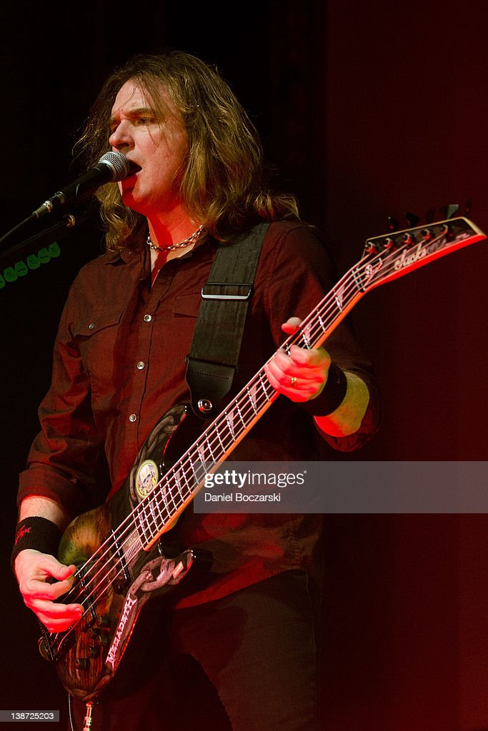 Dave Ellefson of Megadeth performs at the Aragon Ballroom on February 10, 2012 in Chicago, Illinois.