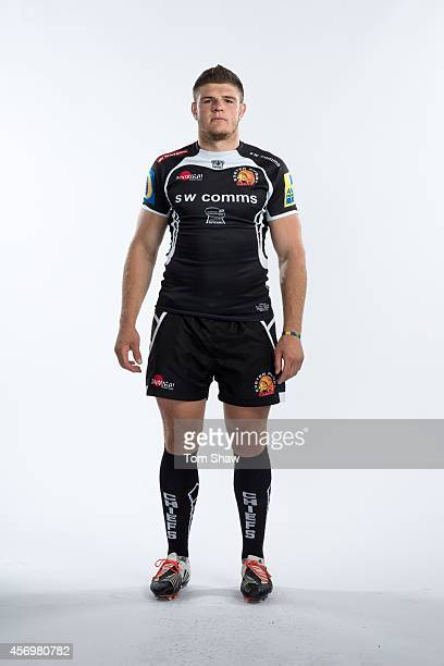 Dave Ewers of Exeter Chiefs poses for a picture during the BT Photo Shoot at Sandy Park on August 26 2014 in Exeter England