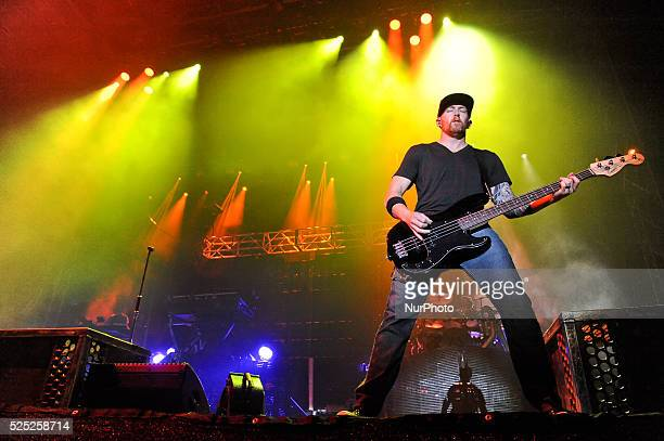 Dave Farrell of Linkin Park performs onstage during River City Rockfest at the ATampT Center on May 24 2015 in San Antonio Texas