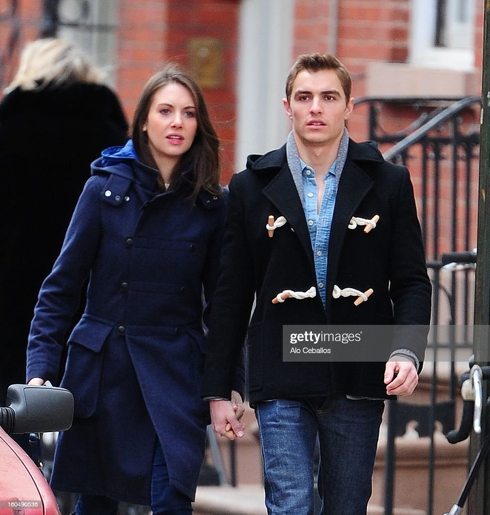 <a gi-track='captionPersonalityLinkClicked' href=/galleries/search?phrase=Dave+Franco&family=editorial&specificpeople=5512906 ng-click='$event.stopPropagation()'>Dave Franco</a> and <a gi-track='captionPersonalityLinkClicked' href=/galleries/search?phrase=Alison+Brie&family=editorial&specificpeople=5447578 ng-click='$event.stopPropagation()'>Alison Brie</a> are seen in the West Village on February 1, 2013 in New York City.