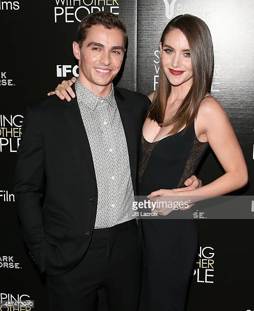 Dave Franco and Alison Brie attend the premiere of IFC Films' 'Sleeping With Other People' held at ArcLight Cinemas on September 9 2015 in Hollywood...