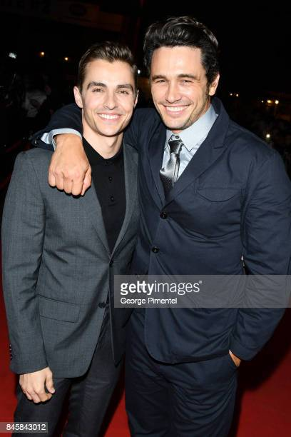 Dave Franco and James Franco attend 'The Disaster Artist' premiere during the 2017 Toronto International Film Festival at Ryerson Theatre on...