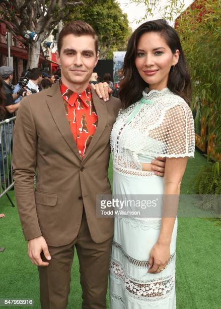 Dave Franco and Olivia Munn attend the premiere of Warner Bros Pictures' 'The LEGO Ninjago Movie' at Regency Village Theatre on September 16 2017 in...