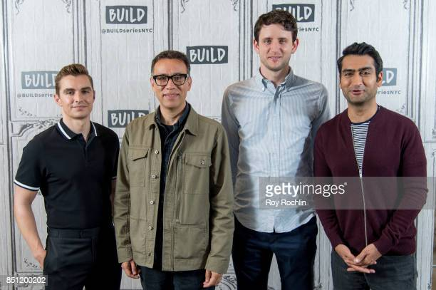 Dave Franco Fred Armisen Kumail Nanjiani and Zach Woods discuss 'The LEGO Ninjago Movie' with the Build Series at Build Studio on September 21 2017...