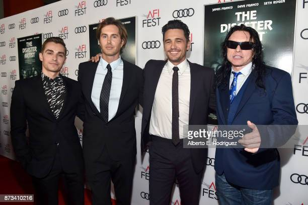 Dave Franco Greg Sestero James Franco and Tommy Wiseau attend the screening of 'The Disaster Artist' at AFI FEST 2017 Presented By Audi at TCL...