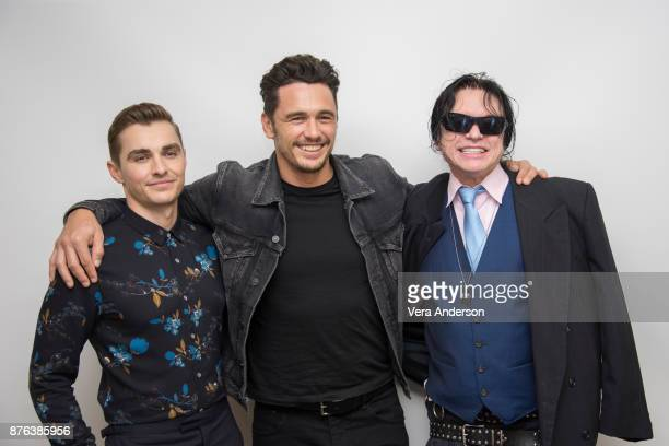 Dave Franco James Franco and Tommy Wiseau at 'The Disaster Artist' Press Conference at the Four Seasons Hotel on November 18 2017 in Beverly Hills...
