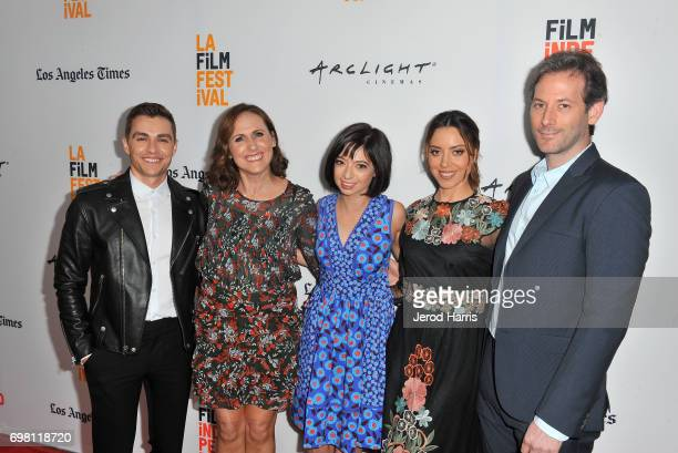Dave Franco Molly Shannon Kate Micucci Aubrey Plaza and Jeff Baena attend the screening of 'The Little Hours' during 2017 Los Angeles Film Festival...