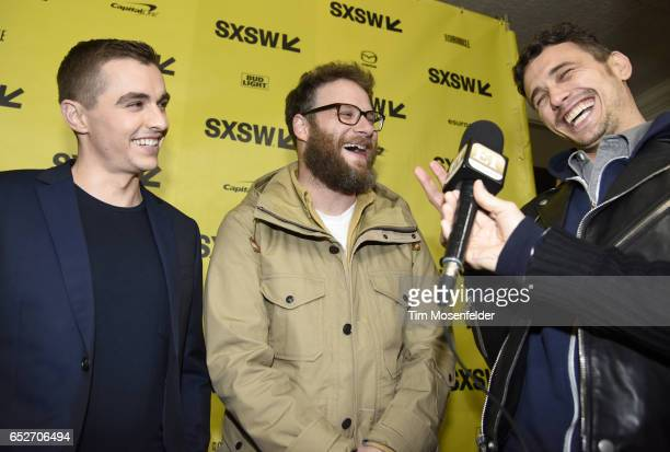 Dave Franco Seth Rogen James Franco attend the premiere of 'The Disaster Artist' during the 2017 SXSW Conference And Festivals at the Paramount...