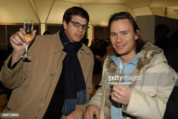 Dave G and Arne attend the 1st Anniversary of the NY MF Girbaud Store and Mike Latham installation viewing at the Girbaud Store on February 5 2004 in...